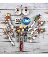 M&M Christmas Bundle Fan Toppers Tubes Ornaments Chimney Train Decoratio... - $53.39