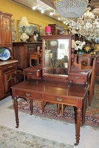 English Antique Mahogany Dresser / Writing Desk  - $1,140.00