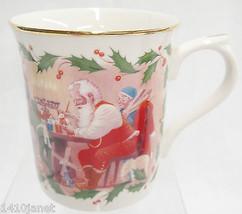 Lenox Santa's Holiday Journey Toy Shop Porcelain Mug Workshop Elves Christmas - $14.10