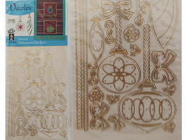 Hot Off the Press Stitched Ornament Stickers, Gold #5393