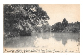 France Lyon Le Parc de la Tete d'Or Lake View Vintage 1908 LL Leon Levy ... - $4.99