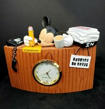 DISNEY MICKEY MOUSE SLEEPING DESK CLOCK - DISNEY THEME PARK EXCLUSIVES. - $93.05