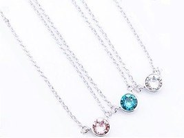 WOMEN FASHION SPARKLING CZ PENDANT NECKLACE MADE WITH SWAROVSKI CRYSTAL ... - $19.99