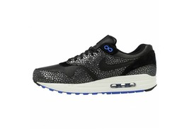 Nike Men Air Max 1 Deluxe Shoes 684708-001 Black Silver White Sneakers S... - $138.59