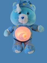 "Care Bears 2002 Bedtime Bear Talking LightUp Plush Stuffed Animal Works 13"" - $25.65"