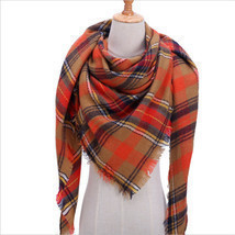 "Code ""B"" Women Blanket Oversized Tartan Scarf Shawl Plaid Cozy Checked P... - $12.37"