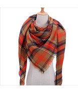 "Code ""B"" Women Blanket Oversized Tartan Scarf Shawl Plaid Cozy Checked P... - £9.56 GBP"