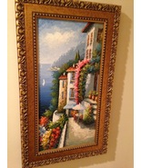 "Rossini Mediterranean painting approximately 17"" X 30"" - $349.99"