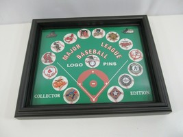 MLB Logo Pin Set 15 Pinbacks Baseball Red Sox Athletics Giants Blue Jays more - $33.68