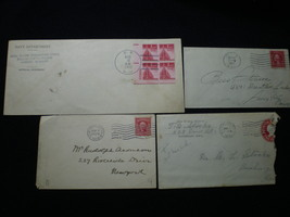 4 Vintage Ephemera-Letters,Stamped Envelopes,1908 1912 1925 1943 Navy - ... - $4.50