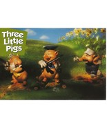 """WDCC Disney Post Card Postcard 3 Three Little Pigs 4"""" by 6"""" Unposted  - $6.00"""