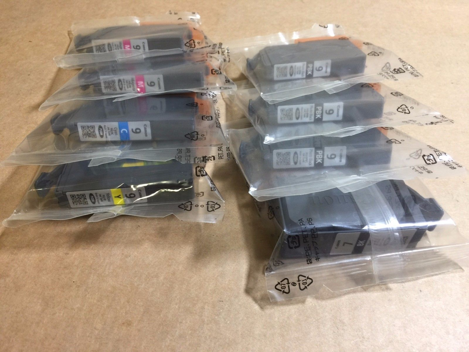 8 Value Pack Genuine Canon Lucia PGI-9 Ink Cartridge Tanks for MX7600 iX7000 - $97.02