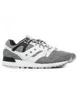Saucony Grid Sd Black White Grey Black Mens Comfort Casual Sneakers S703... - £94.19 GBP