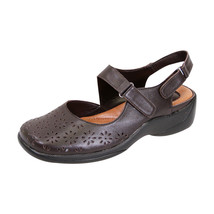 PEERAGE Kylie Women Wide Width Leather Comfort Sandal for Everyday - $58.45