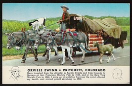 Orville Ewing Postcard Colorado Pritchett Artist Travel Donkey Wagon Goa... - $14.99