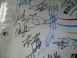 BRIDGESTONE INVITATIONAL MUTI SIGNED GOLF FLAG / 19 SIGNERS / TIGER WOODS / LOA image 7