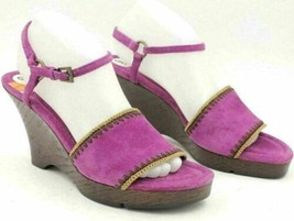 Aerosoles Women Slingback Ankle Strap Sandals Lodge Ball Size US 9M Pink... - $27.00