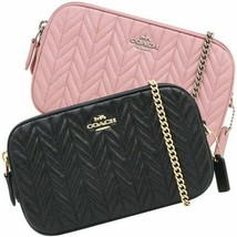 COACH F72998 Double Zip Chain Strap Quilted Crossbody Bag - $84.14+