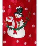 Hallmark Tie Holiday Traditions Snowmen Christmas Mens Necktie Novelty Red - $3.50