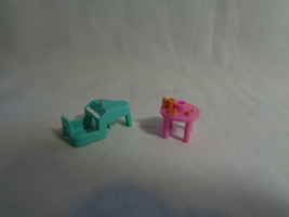 Vintage 1990's Bluebird Polly Pocket Pink Table & Green Piano Replacemen... - $4.83