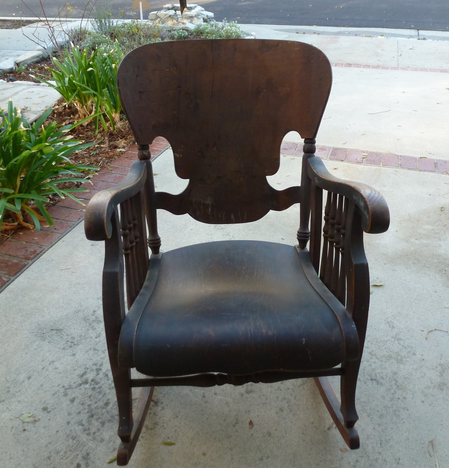 Vintage Antique Peck U0026 Hills Wood Rocker Rocking Chair