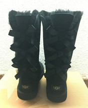 Ugg Bailey Bow Tall Black Kids Youth Us 6 -will Fit Women Us 8 / Eu 39 / Uk 6 - $182.33