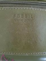 Fossil Leather Green Multicolor Floral Bi-Fold  Checkbook Wallet image 4