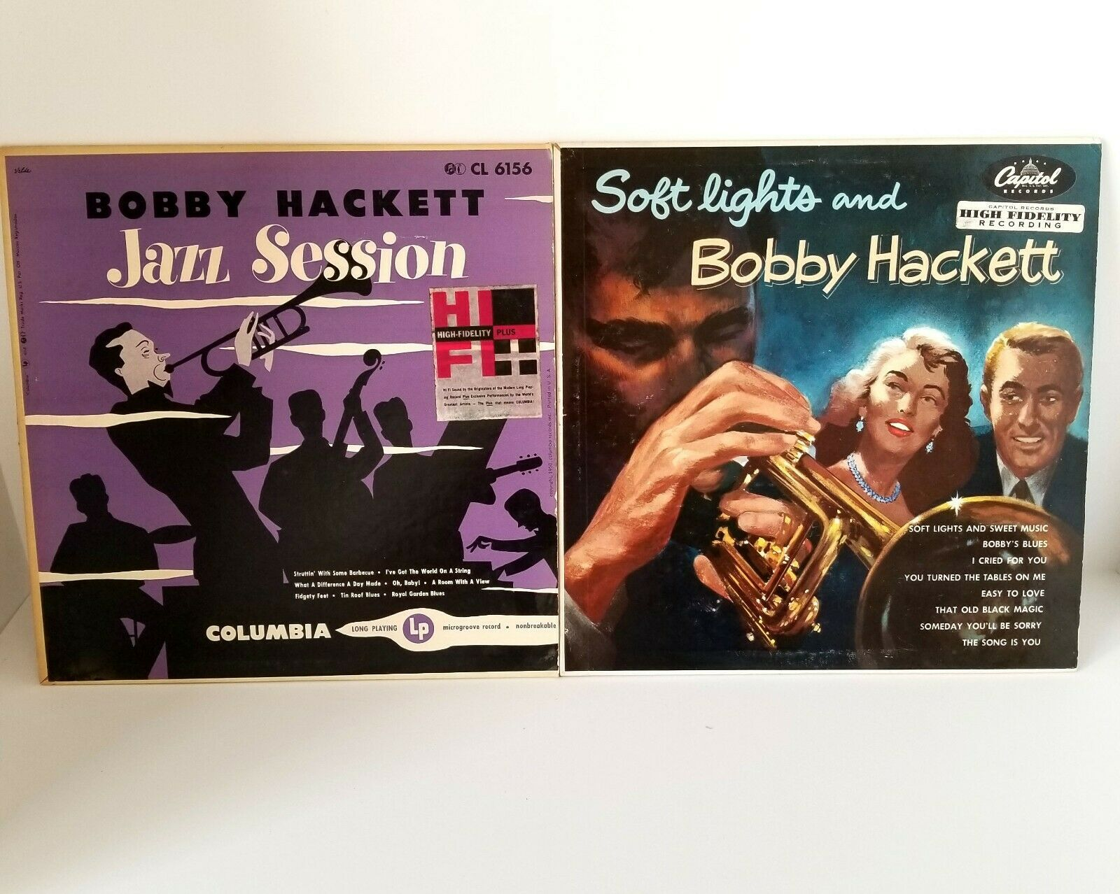 "Bobby Hacket Vintage 10 "" Record Album Jazz Session Columbia 1950 + Soft Lights"