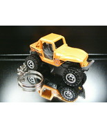 Jeep Wrangler Rock Crawler Off Road 4x4 Key Chain Ring Orange - $15.19