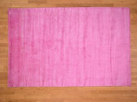 6'x9' Overdyed Peshawar Pure Wool Pink HandKnotted Oriental Rug G41704 - $543.32
