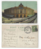 Manchester NH Transfer Clk Cancel 1912 Postmark on Boston RR Station Pos... - $4.84