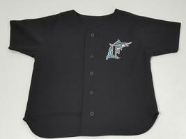 Youth Vintage Florida Marlins Jersey Size 7 Black MLB Johnson Name on Ba... - $14.06