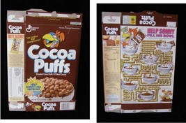 Cocoa Puffs Vintage Cereal Box Flat Empty Box help sonny fill his bowl - $16.99