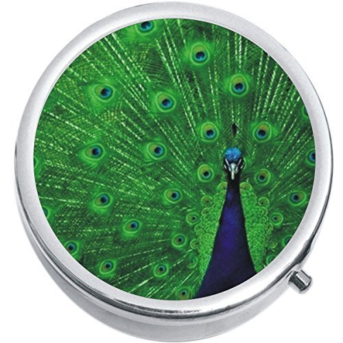 Primary image for Peacock Medicine Vitamin Compact Pill Box