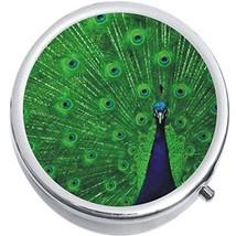 Peacock Medicine Vitamin Compact Pill Box - $9.78