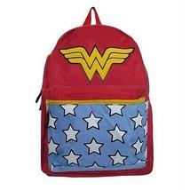 Wonder Woman Belt Strap Red Backpack Red - $51.98