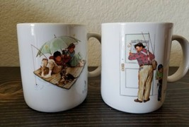 Norman Rockwell Coffee Tea MUG CUP Closed for Business Fisherman's Paradise - $19.99