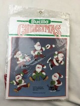 Bucilla Christmas Holiday Felt Applique Tree Ornament Kit JOYFUL SANTAS ... - $23.35