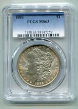 1885 MORGAN SILVER DOLLAR PCGS MS63 NICE ORIGINAL COIN SUPER PREMIUM QUA... - $72.00