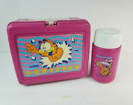 Vintage Garfield the Cat 1978 Thermos Lunch Box w/ Thermos Cartoon Aladdin - $24.74