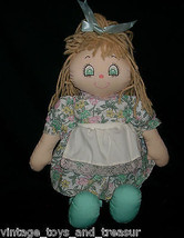 "16"" Vintage 1989 Commonwealth Doll Stuffed Animal Plush Brown Hair W/ Dress Toy - $34.65"