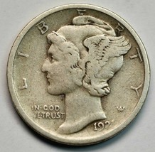 1921D Key Date Silver Mercury Dime 10¢ Coin Lot# A663
