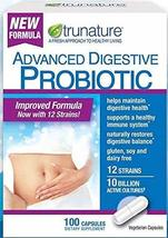 100 Capsules (Pack of 3) Trunature® Advanced Digestive Probiotic with 12... - $72.99