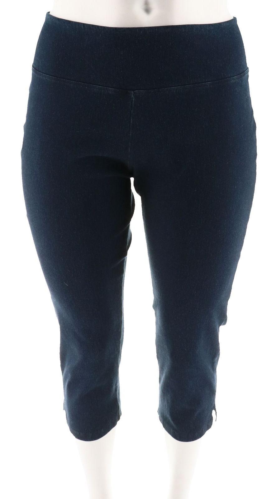 Women with Control Tummy Control Stretch Crop Jeans Indigo PM NEW A306461