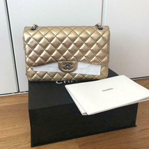 Chanel Matelasse Champagne Gold Chain Shoulder Bag Caviar Auth Used USA L/d Rare - $4,809.63