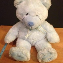 "Russ Berrie Blue My First Teddy Bear Plush Baby Boy Toy Lovey Stuffed Animal 16"" - $20.00"