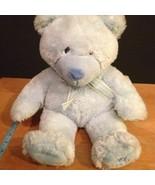 Russ Berrie Blue My First Teddy Bear Plush Baby Boy Toy Lovey Stuffed An... - $20.00
