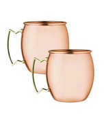 SET OF 2 MODERN HOME 100% SOLID COPPER MOSCOW MULE MUG - 18oz -HANDMADE ... - $19.75