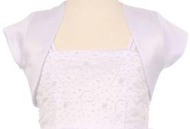 Flower Girl Dress Satin Short Sleeve with Coat White KD 355 - $15.84+