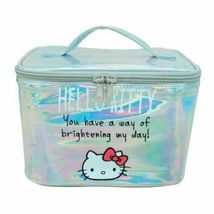 Sanrio Hello Kitty Vanity Box Makeup Pouch Cosmetic Case Purse from Japan - $24.47
